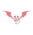 The Devil Valentines day Love icon vector image