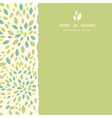 Leaf texture square torn frame seamless pattern vector image
