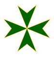 Cross of Saint Lazarus vector image