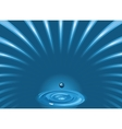 blue water vector image