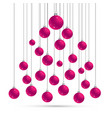 christmas and new year postcard withballs vector image