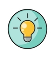 Creative Idea with Light Bulb Shape vector image