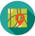 Marked Destination vector image