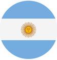 Round Argentina flag vector image