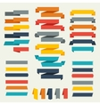 Set of retro ribbons and labels for design vector image