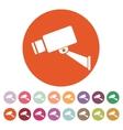 The cctv icon Camera and surveillance security vector image