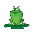 Cute frog cartoon collection stock vector image