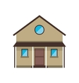 cartoon familiy house countryside vector image