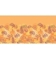 Desert flowers and leaves horizontal seamless vector image