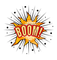 Cartoon boom with rays vector image vector image