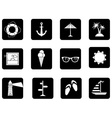 Set of 12 square icons vector image