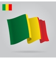 Background with waving Mali Flag vector image vector image
