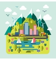 Mountain landscape nature river environmentally vector image