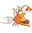 Monkfish Deep-water fish Cartoon vector image vector image