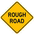 Rough Road Warning vector image vector image