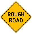 Rough Road Warning vector image