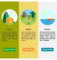 Eco-tourism Camping cycle tourism sailing vector image