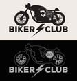Biker Club Logo Set vector image