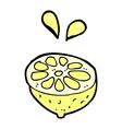 Comic cartoon fresh lemon vector image
