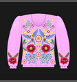 pink sweatshirt template vector image