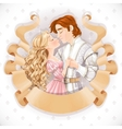 Romantic scene of a fabulous prince and princess vector image