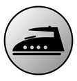 Steam iron button vector image