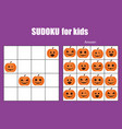 Sudoku game for children kids activity sheet vector image