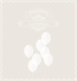 White balloons on the wedding invitation card vector image