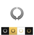 Greek prize wreath with laurel leaves icon vector image