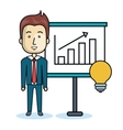 businessman character flat icon vector image