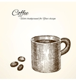 coffee background for Your design vector image vector image
