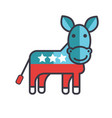 donkey usa democrat party flat line vector image