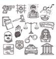 Law icon sketch vector image vector image