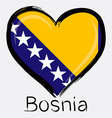 love Bosnia flag vector image vector image