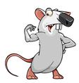 cartoon rat standing in pose bodybuilder vector image