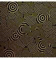 Gold glitter circles pattern background vector image