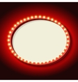 Retro frame circle with neon lights vector image
