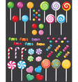 sweets candy set vector image vector image