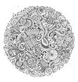 Cartoon hand-drawn doodles Japan food vector image