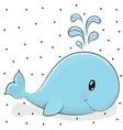 Cartoon whale vector image