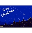 Christmas night in a city vector image