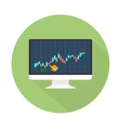 Data analyzing in forex market vector image