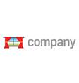 home window drapes logo vector image