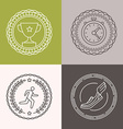 linear runnig badges vector image