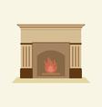 Modern Flat Design Fireplace vector image