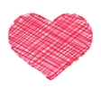 Red abstract hand draw heart card EPS8 vector image