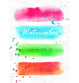 Set of watercolor stripes bright design elements vector image