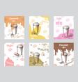 vintage coffee brochures vector image