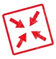 Compress Arrows Icon Rubber Stamp vector image