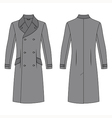 coat outlined template vector image
